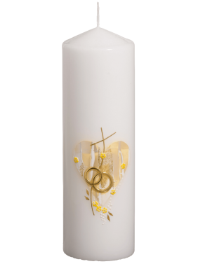 Poročna sveča oval zlata
